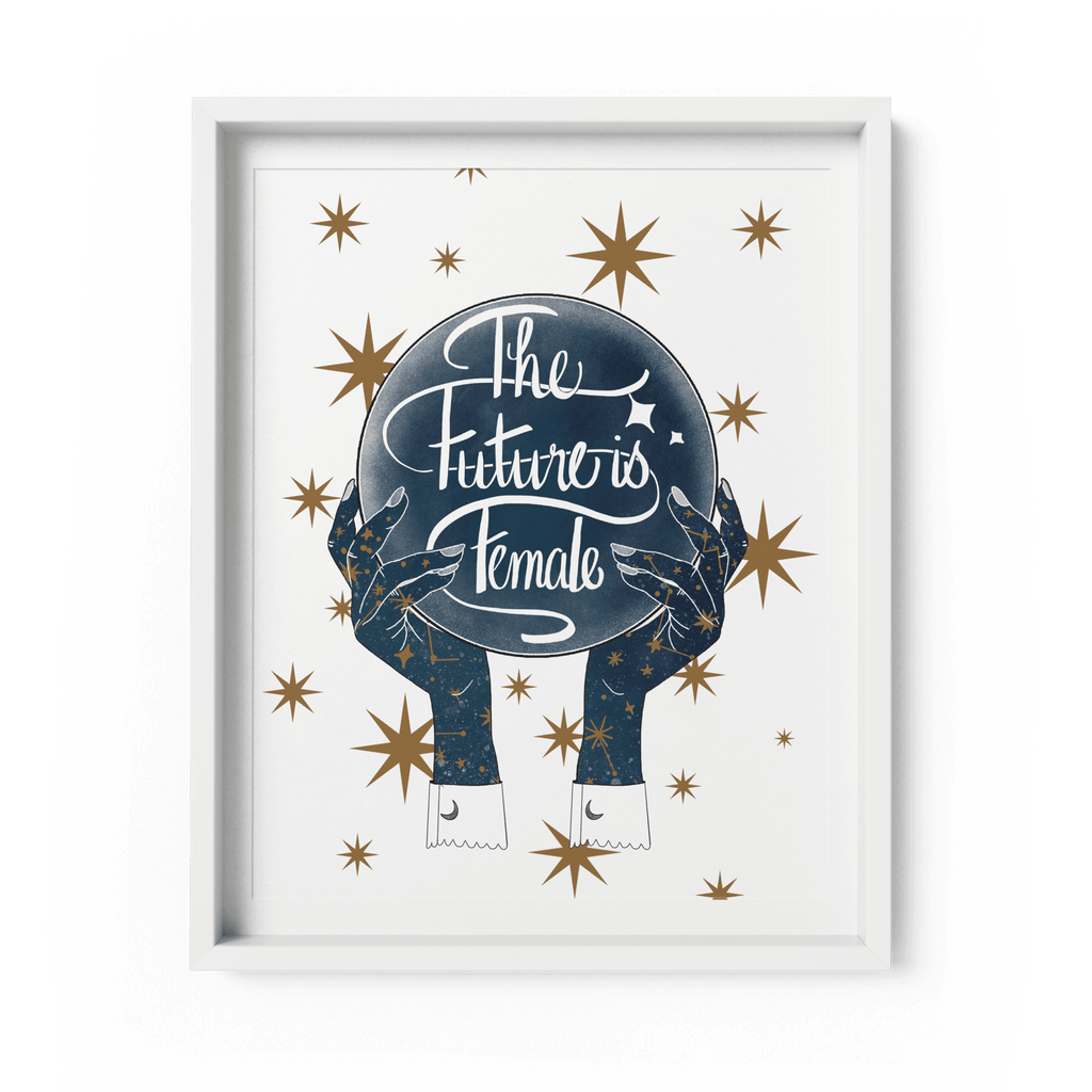 'The Future is Female' Art Print A4 - Fawn and Thistle