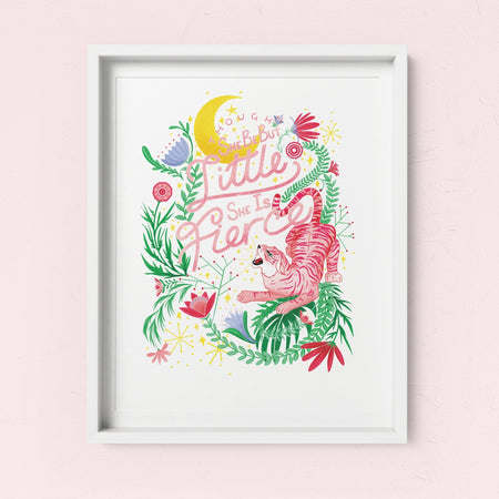 'Though She Be But Little She Is Fierce' Art Print - Fawn and Thistle