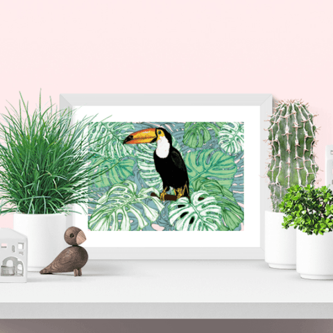 Tropical Toucan Giclee Art Print - Fawn and Thistle