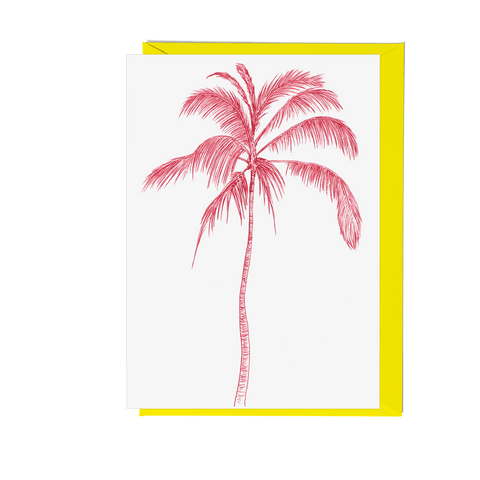 Tropicana Palm Tree Greeting Card - Fawn and Thistle