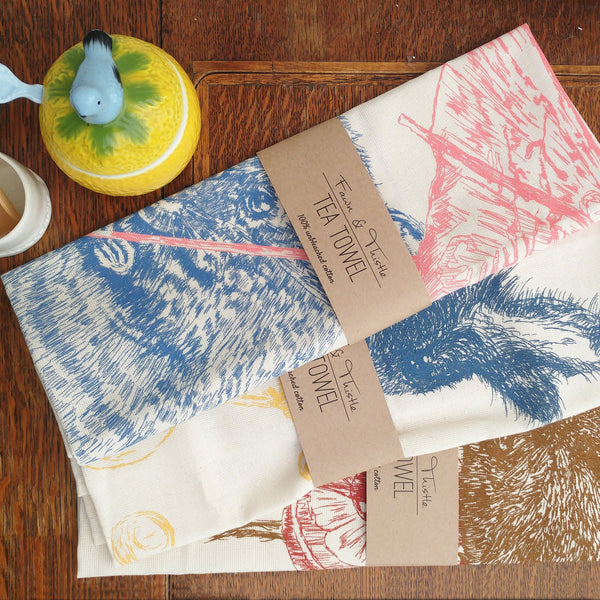 Vincent Vole Tea Towel - Fawn and Thistle