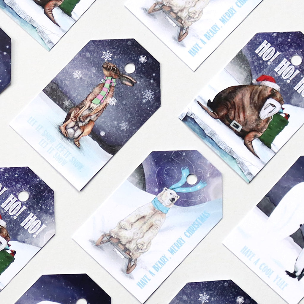 Winter Wonderland Animal Gift Tag Pack Of Eight - Fawn and Thistle
