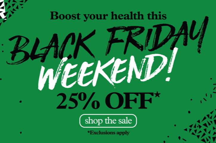 25% off everything, this Black Friday weekend!