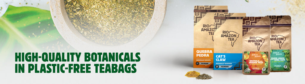 High  quality botanicals in plastic-free teabags