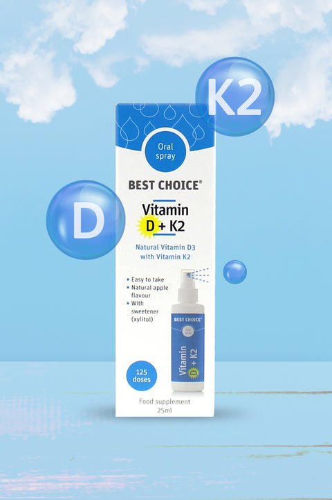 Best Choice Vitamin D3 + K2 Oral Spray 25ml