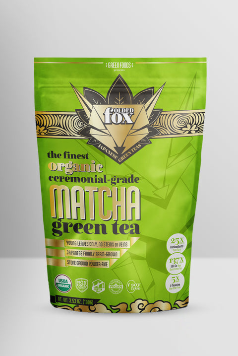 Folded Fox: Ceremonial-Grade Matcha Green Tea