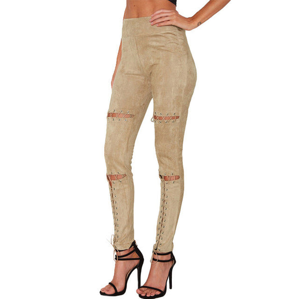 Suede Lace Pants