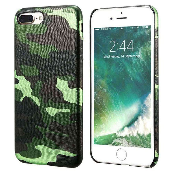 Camo Faux Leather iPhone Case