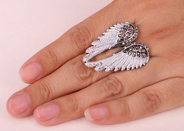 Angel Wings Stretchy Ring