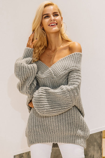 Off The Shoulder Knitted Sweater