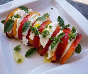Summer Peach Caprese Salad