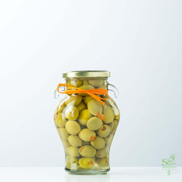 Orange Rind Stuffed Olives