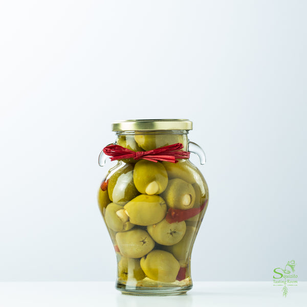 Garlic & Red Chili Stuffed Olives