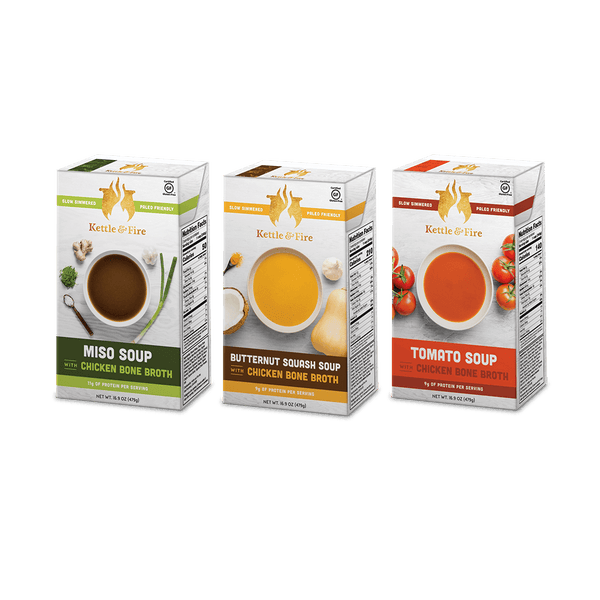 *3-Pack: Healthy Soups Variety (Made With Bone Broth)