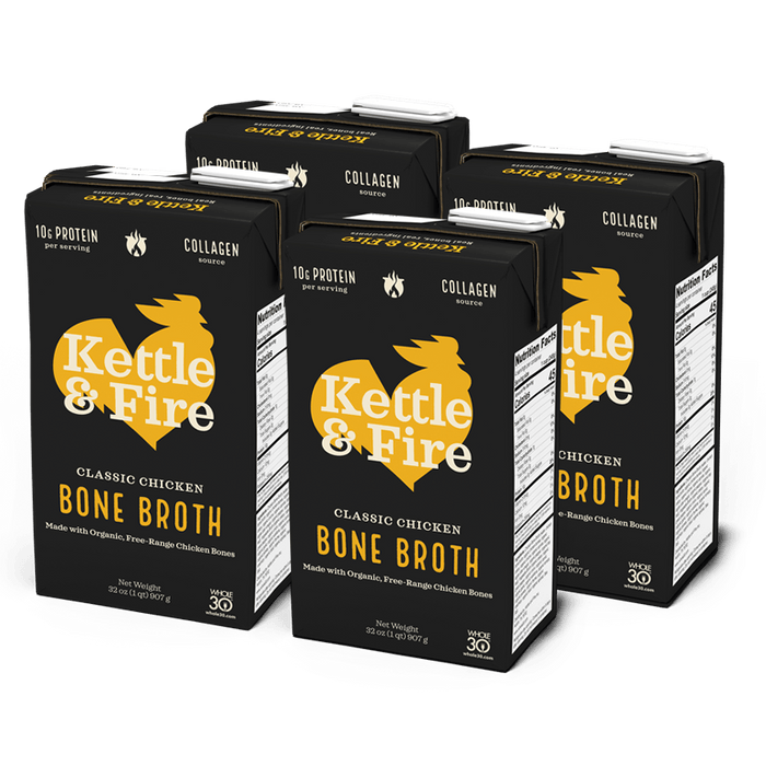 4-Pack: Chicken Bone Broth - 32oz Bundle Kettle & Fire