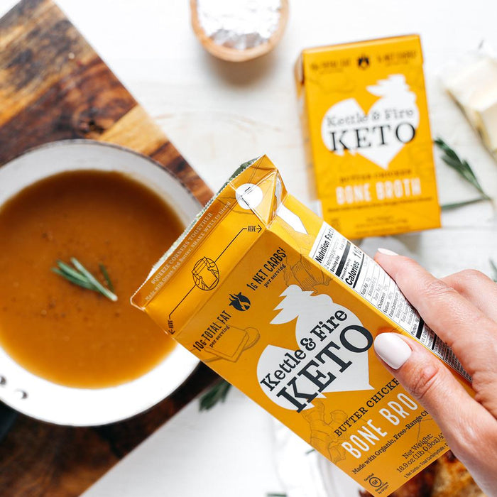 Butter Chicken Bone Broth 16oz Bone broth Kettle & Fire