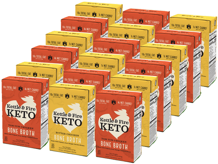 18-pack: Keto Broths Variety Bone broth Kettle & Fire
