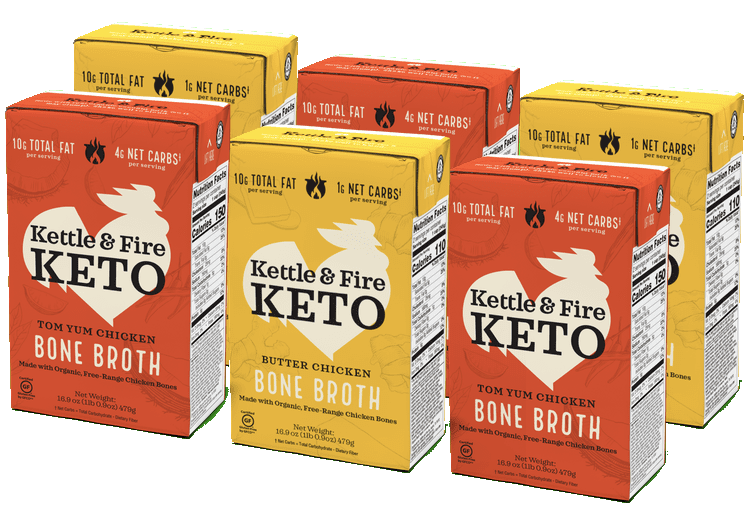 6-pack: Keto Broths Variety Bone broth Kettle & Fire