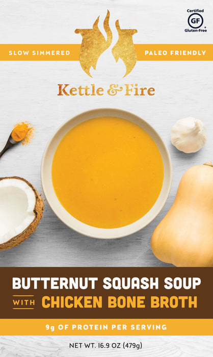 12-Pack: Butternut Squash Soups (Made With Bone Broth) Soups Kettle & Fire