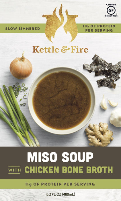 18-Pack: Miso Soups (Made With Bone Broth) Soups Kettle & Fire