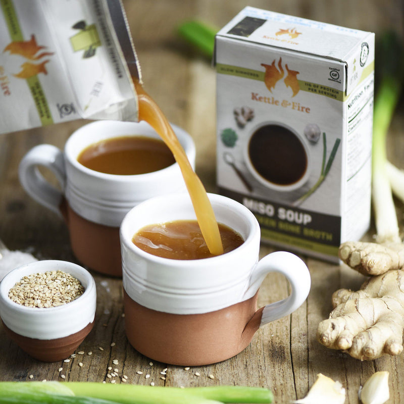 12-Pack: Miso Soups (Made With Bone Broth) Soups Kettle & Fire