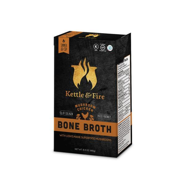2-Pack: Mushroom Chicken Only Bundle-Bone broth-Kettle & Fire