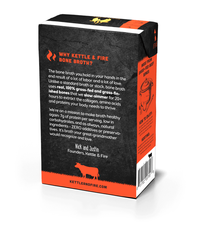 Grass-fed Beef Bone Broth: 16.9oz-Bone broth-Kettle & Fire