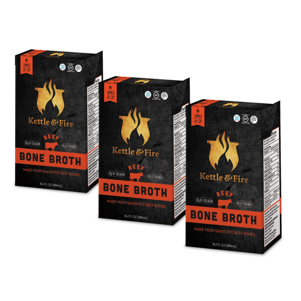 3 x Grass-Fed Beef Bone Broth