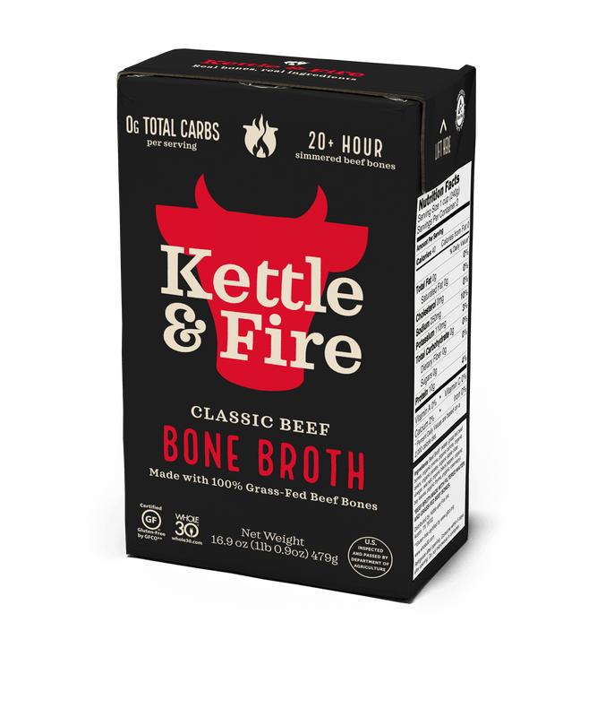 100% Grass-fed Beef Bone Broth [10g protein/serving] – Kettle & Fire