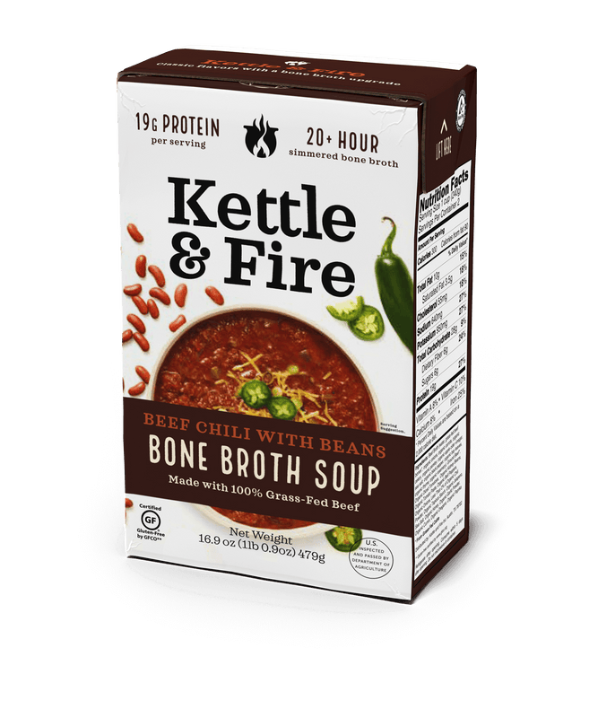 Grass-Fed Beef Chili (Made With Bone Broth) Soups Kettle & Fire
