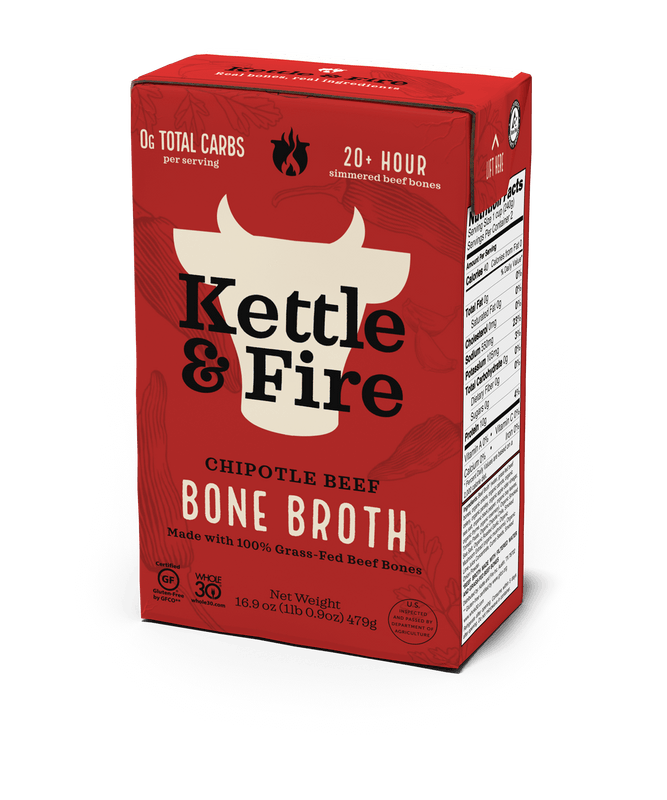 Chipotle Beef Bone Broth - 16.9 oz Bone broth Kettle & Fire