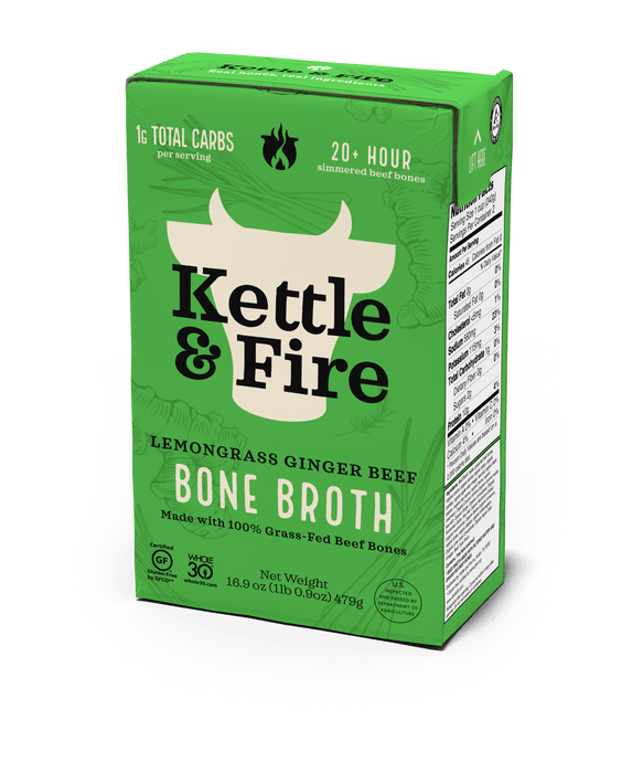 Lemongrass Ginger Pho Beef Bone Broth - 16.9 oz-Bone broth-Kettle & Fire