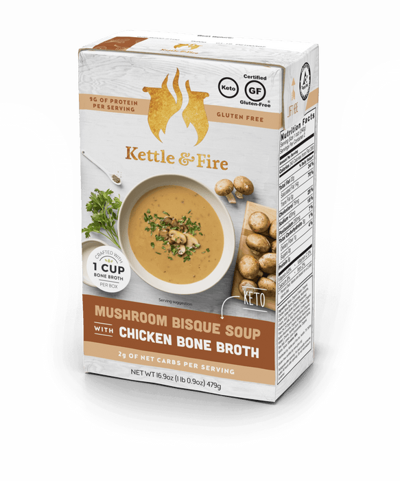 Mushroom Bisque Keto Soup Keto Soups Kettle & Fire