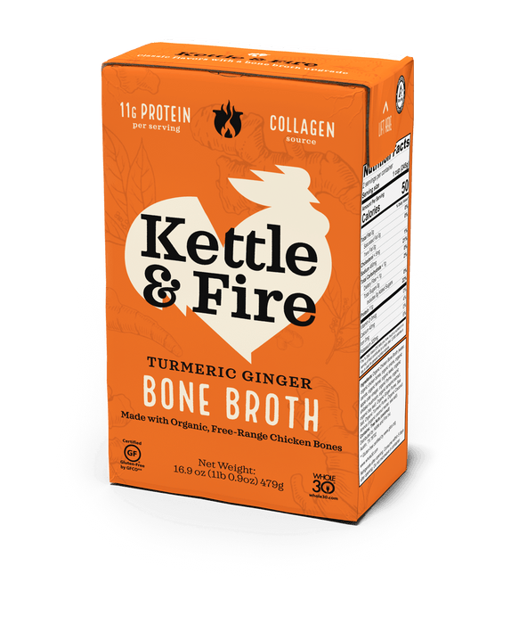 Turmeric Ginger Chicken Bone Broth - 16.9 oz Bone broth Kettle & Fire