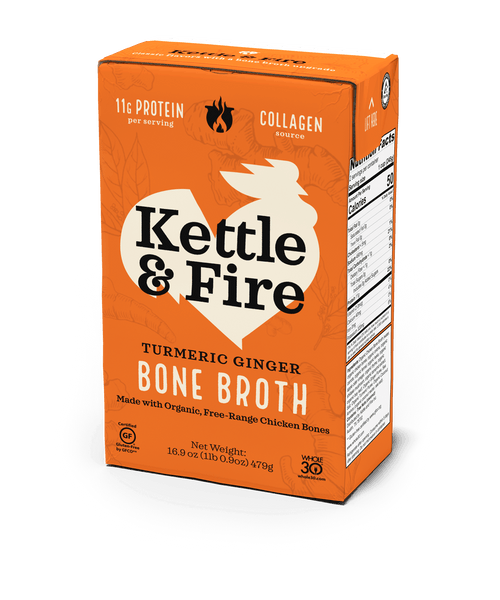 Turmeric Ginger Chicken Bone Broth - 16.9 oz-Bone broth-Kettle & Fire