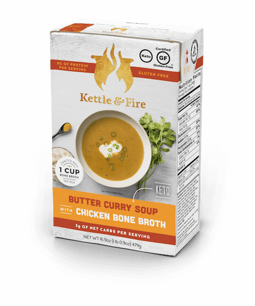 6-Pack: Butter Curry Keto Soup Soups Kettle & Fire