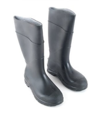 Black Waterproof Rubber Boots