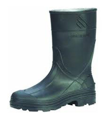 Kids Black Waterproof Rubber Boots