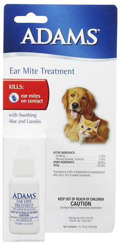 Adams Ear Mite Treatment 0.5 fl. oz.