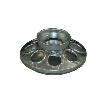 Free Range Chick Feeder Base 1 qt. Galvanized