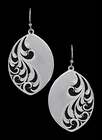 Montana Silversmith Silver with Black Swirl Filigree Earrings