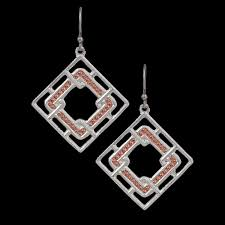 Montana Silversmith Interlocking Square Earrings