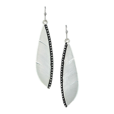 Montana Silversmith Beaded Plume Feather Earrings
