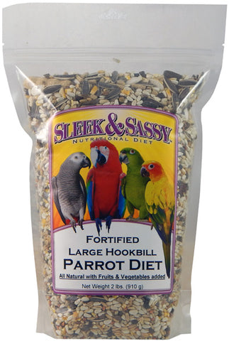 Sleek & Sassy Fortified Large Hookbill Parrot Food