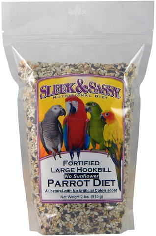 Sleek & Sassy Fortified Large Hookbill without Sunflower Parrot Food