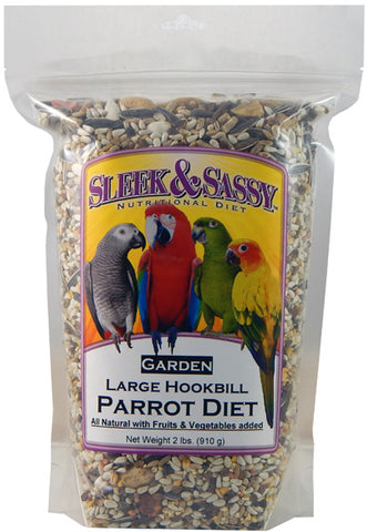 Sleek & Sassy Garden Large Hookbill Parrot Food