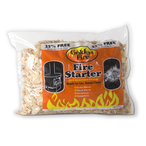Golden Fire Starter Shavings