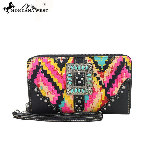 Montana West Buckle Collection Wallet Pink