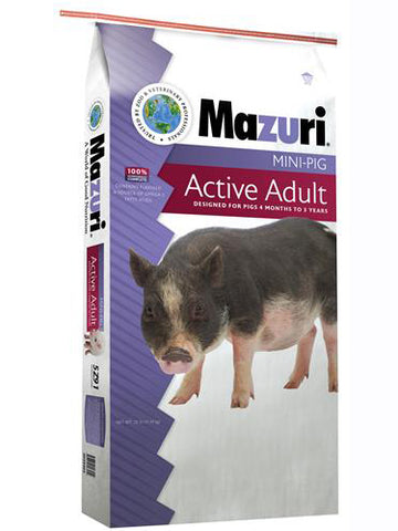 Mazuri Mini Pig - Active Adult 25 lbs.