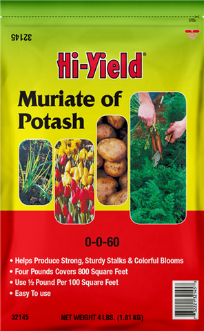 Hi-Yield Muriate of Potash 0-0-60 4 lbs.